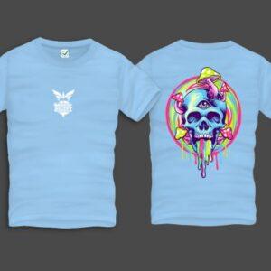 Mushroom Skull Men Back Print T-Shirt