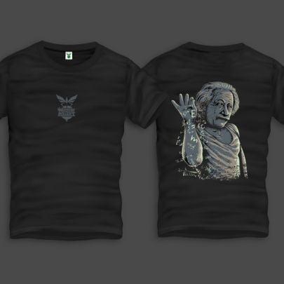 Einstein Back Ανδρικό T-Shirt