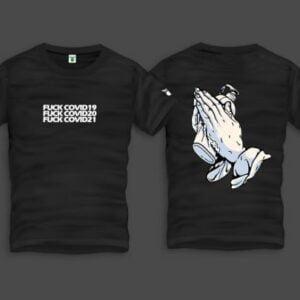 Covid Hands Men Back Print T-Shirt