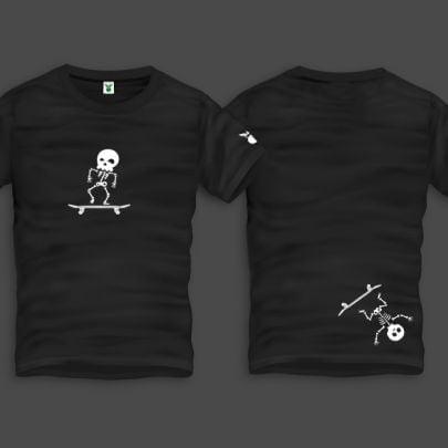 Skater Boi Men Back Print T-Shirt