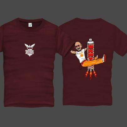 Gandhi Spray Men Back Print T-Shirt