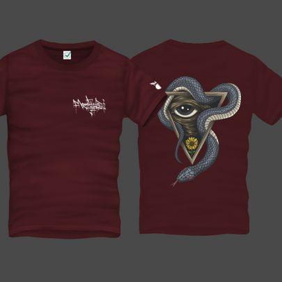 Snake Eye Men Back Print T-Shirt
