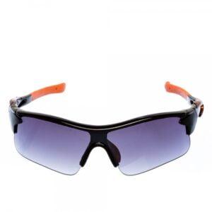 Ανδρικά γυαλιά ηλίου αθλητικά μαύρα με πορτοκάλι