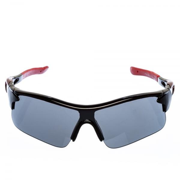 Ανδρικά γυαλιά ηλίου αθλητικά μαύρο με κόκκινο