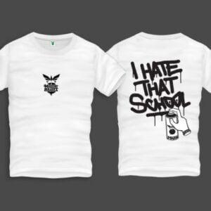 Hate That Men Back Print T-Shirt