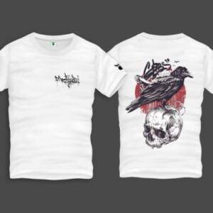 Raven Skull Men Back Print T-Shirt