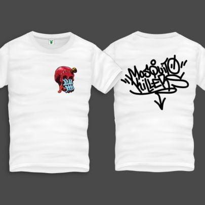 Skull Hand Men Back Print T-Shirt