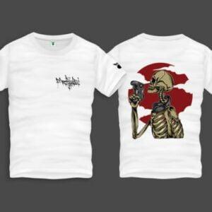 Gamer Skull Men Back Print T-Shirt