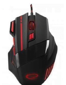 ESPERANZA EGM201R WIRED MOUSE FOR GAMERS 7D OPTICAL USB MX201 WOLF RED