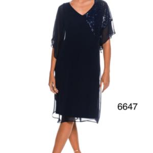 Μίντι Plus Size Φόρεμα Με Παγιέτες