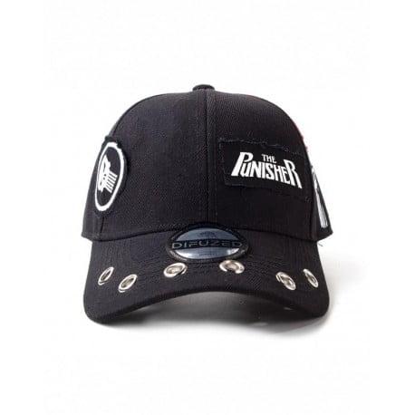 Καπέλο The Punisher Grunge Cap With Patches Μαύρο