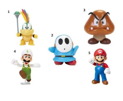 JP Nintendo Φιγούρα 2.5'' Super Mario W.25 - 5 Σχέδια (404524)