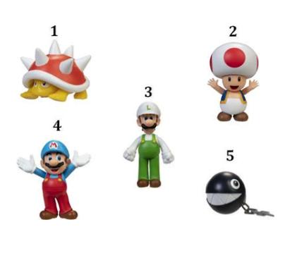 JP Nintendo Φιγούρα 2.5'' Super Mario W.28-5 Σχέδια (404584)