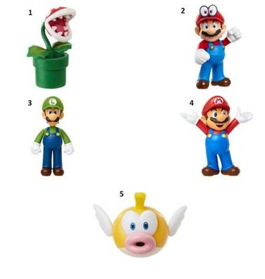 "JP Nintendo Φιγούρα 2.5"" Super Mario W.24 - 5 Σχέδια (401254)"
