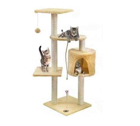 Δέντρο Ονυχοδρόμιο Γάτας 3 επιπέδων παιχνιδότοπος