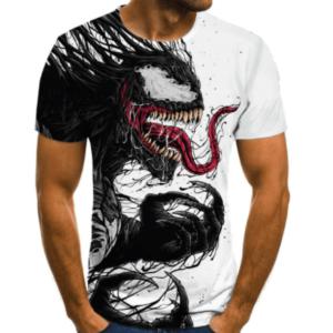 2021 New Cartoon Venom T-Shirt Men And Women 3D Printing Fashion Short-Sleeved T-Shirt Streetwear Summer Tops