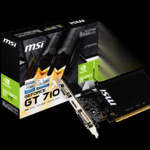 Msi Gt 710 Lp 2gb Ddr3, 64-bit, Vga, Dvi, Hdmi (gt 710 2gd3h Lp)