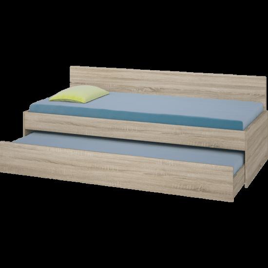 Κρεβάτι Καναπές με συρόμενο 2ο κρεβάτι Bisi Sandwich, ΔΩΡΟ 2 Στρώματα, 2 Μαξιλάρια, Genomax