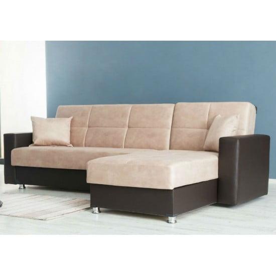 Γωνιακός καναπές-κρεβάτι, Lora, 252x155 εκ.