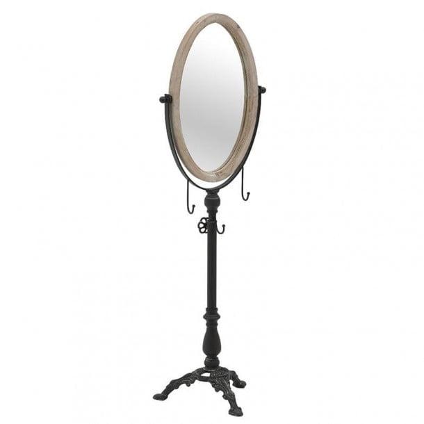Καθρέπτης Επιδαπέδιος Ξύλινος-Μεταλλικός inart μαύρος