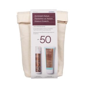 Korres Πακέτο Προσφοράς Red Grape Tinted Sunscreen Face Cream Spf50, 50ml & After Sun Body Emulsion 125ml