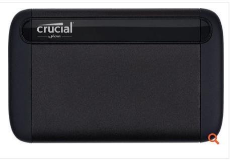 Crucial 500 Gb Portable Ssd, Usb 3.1 Gen 2 (ct500x8ssd9)