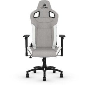 Gaming Chair Corsair T3 Rush - Γκρι/Λευκό