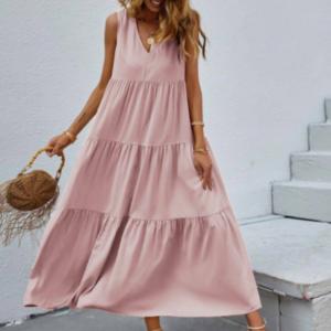 Φόρεμα Old Fashioned Ρόζ V μπούστο