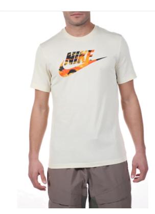 Ανδρικό t-shirt NIKE λευκό βαμβακερή σύνθεση