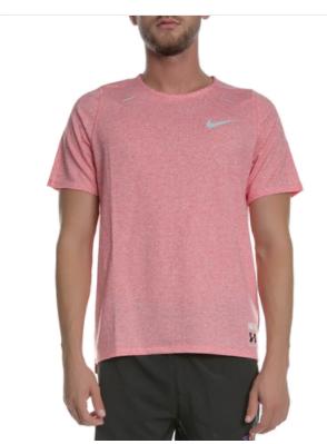Ανδρική αθλητική μπλούζα NIKE ροζ Rise